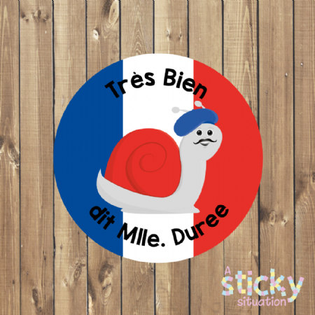 Personalised French Teacher Reward Stickers